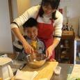 お母さんとパン作り