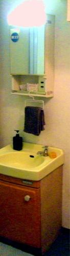 レトロな洗面台