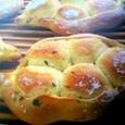 豆腐バジルチーズパン