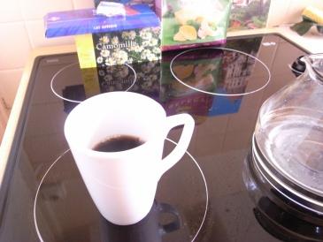 キッチンで毎日コーヒーを飲みました